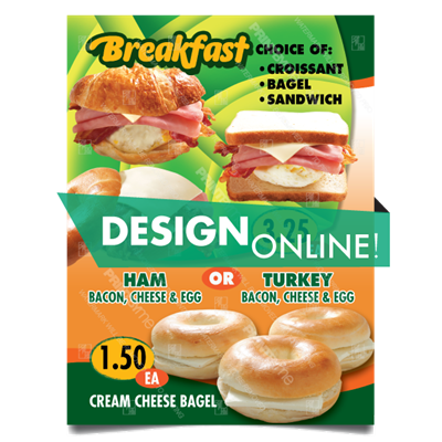 DN-052 Breakfast Sandwiches Poster