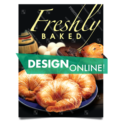 DN-055 Croissant Muffin Poster