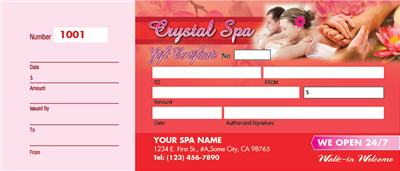 Crystal Massage Voucher