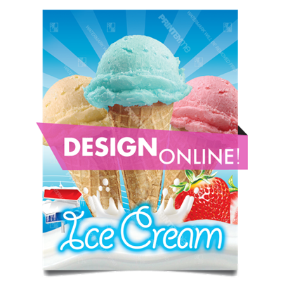 DN-034 Ice Cream Cones Poster