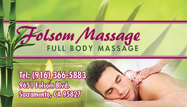 Spa BC012 Massage Business Card Front