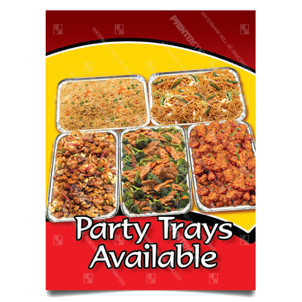 MC-001 Chinese Food Party Trays Poster